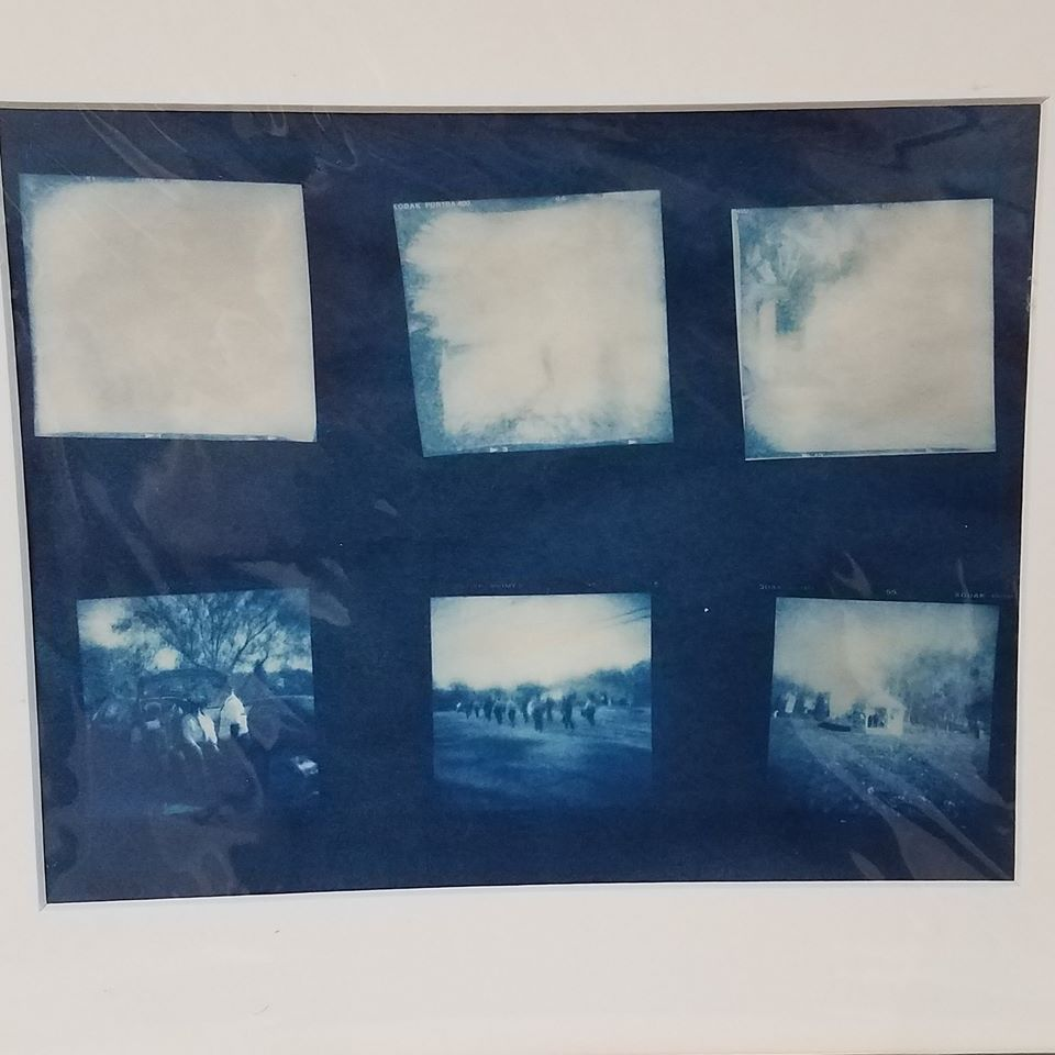 Holga Film Veteran's Day Cyanotype