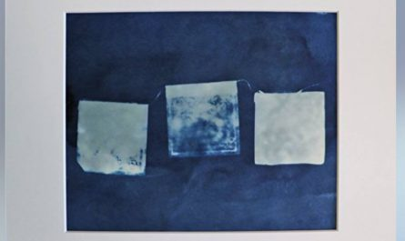 Tibetan Prayer Flags Cyanotype