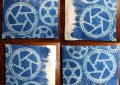 Cyanotype Gears with Brush Strokes